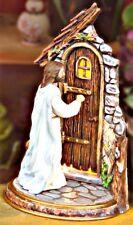 Ceramic Bisque Jesus Knocking On Door~Medium Size~ Ready To Paint~Light Kit Incl
