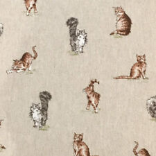 Shabby remanente de tela de lino del gato 100% Polialgodón 50 cm X 40 Cm