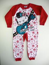 ELVIS HELLO KITTY PYJAMA COMBINAISON POLAIRE ROUGE 4 ANS NEUF