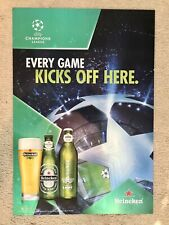 2010 Heineken / Uefa Champions League -Serigraph Inc. Embossed Promo Poster Sign