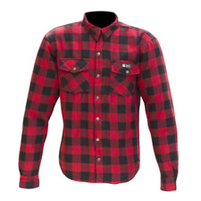 MERLIN AXE CASUAL RED CHECKED ARMOURED SHIRT X-LARGE