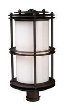 ELK 42155/1 Burbank 1 Light 21 inch Clay Bronze Outdoor Post Light