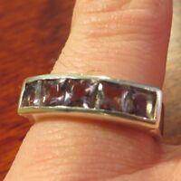 Bezaubernder 925 Silber Ring  Lila Violett Pave Gefasst Amethyst Flieder Modern
