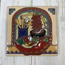 Earthtones Since Red Chili  Soup Kitchen Hand Glazed Art Tile