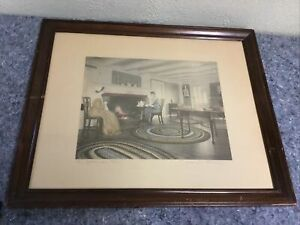An Afternoon Tea Tinted Photo by Wallace Nutting-Framed