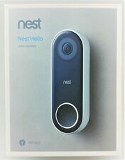 Nest Hello NC5100US Smart Wi-Fi Video Doorbell Black/White In Box New/Other