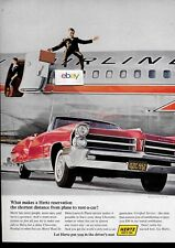 AMERICAN AIRLINES BOEING 727-100 & HERTZ RENT A CAR DRIVERS SEAT BOONEVILLE AD