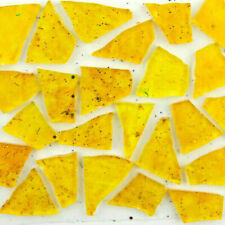 100 pieces of Beautiful Golden Yellow Mosaic Art Glass by Makena Tile