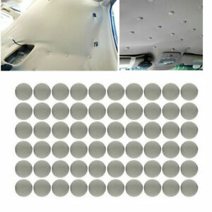 60pcs Interior Car Roof Buckle Snap Fixing With Screws For Repair Headliner Pin