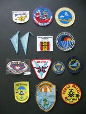 31 unbenutzte Stoffabzeichen - Fallschirmspringen - der 1970er & 80er Jahre