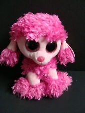 """Nwt Ty Beanie Boos 6"""" Patsey Poodle Pink Plush Boo Sparkly Eyes Patsy 2016 New"""
