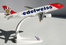 Edelweiss Airbus A320-200 1:200 Herpa Snap-Fit 610940 Flugzeug Modell A320 NEU