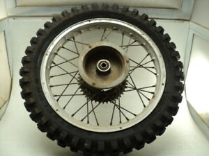 "Bultaco Alpina 350 #9520 Akront 18"" Rear Wheel & Tire"