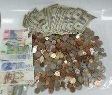 More details for job lot of 3.9 kg foreign coins and banknote unsorted mixed 41 notes worldwide