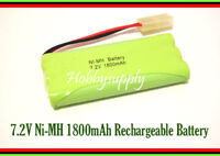 7.2V AA Ni-MH 1800mAh 6-Cell Battery Pack with Tamiya for RC Boat Car Truck Tank