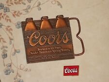 2 Coors Beer Advertising Items Beer Buckle and Lapel Pin