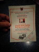 Document Ancienne Machine à Ecrire Underwood Portative Bon pour Essai Gratuit
