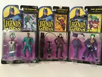 Lot of 3 Legends of Batman Action Figures Riddler Joker Catwoman Kenner 1994& 95
