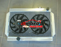 3 CORE 56mm ALUMINUM RADIATOR + 2*FANS FOR holden Torona V8 universal Manual MT