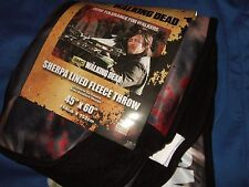 The Walking Dead Zombies Daryl Dixon Bow Sherpa Lined Plush Fleece Throw Blanket
