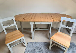Folding Kitchen Dining Table and 4 Chair Set