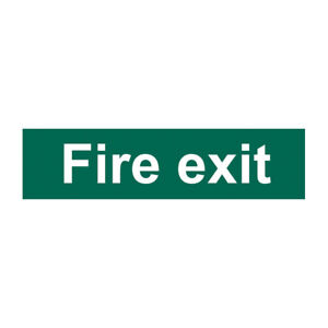 High Quality Green Fire Exit & Safe Condition Signs Self Adhesive (200mm x 50mm)