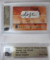 2010 Famous Fabrics Alex Kovalev 1/1 auto 1 of 1 autograph Penguins Canadiens