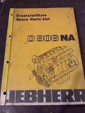 Liebherr D 906 NA Engine Parts Book