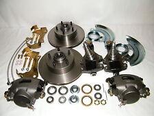 "GM Front Disc Brake Conversion Kit 2"" Drop Spindles Rotors GM A,F,X Body"