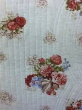 100% Cotton Queen Size 3pcs. Flowers Quilt-Reversible(2 Designs) w/ 2 shams QT11