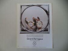 advertising Pubblicità 1991 GIRARD PERREGAUX GP 7000