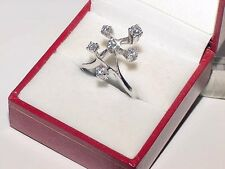 Designers 18K White Gold Diamond Branch Ring Size 8.5 Heavy 6.5Gr Magnificent