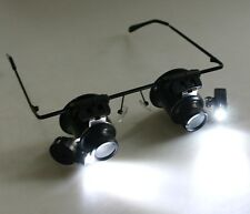 20X LED Light Magnifier Magnifying Eye Glasses Loupe Lens Jeweler Watch Repair