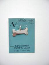 Sterling Silver Dog Bone Engraveable Pendant New