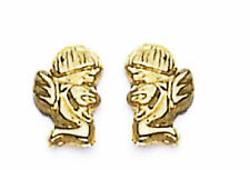 14k Gold Angel  Earrings Screw Back Lock for all ages ON SALE!!