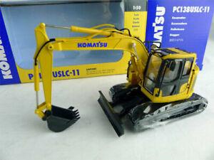 First Gear KOMATSU 1:50 PC138USLC-11 Tracked Excavator Vehcile Truck Model Toy