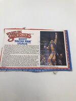 Macho Man Randy Savage WWF LJN Wrestling Superstars Bio Card WWE Cardback Vtg