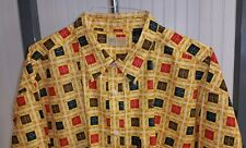 VTG ENYCE Brand Product Authentic Urban Hip Hop Logo Square Baggy Shirt Men's XL