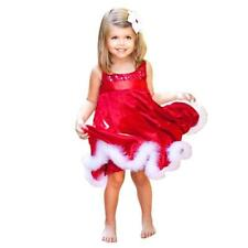 Flower Girl Dresses Christmas Wedding Party Dress Red Paillette Short Tutu Dress