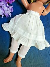 """Antique doll clothes Petticoat split drawer Bloomer set Cotton hand sewn fit 12"""""""