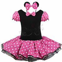Baby Kids Girls Minnie Mouse Birthday Party Costume Ballet Tutu Fancy Dress