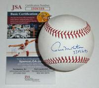 BREWERS Paul Molitor signed baseball w/ 3319 Hits JSA COA Autographed Milwaukee