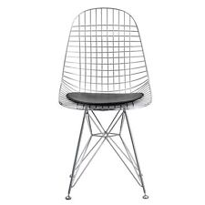 Fine Mod Imports Fmi10036black Eiffel Dining Chair in Chrome Fmi10036