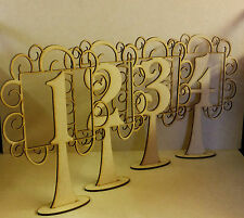 MDF Wedding table numbers