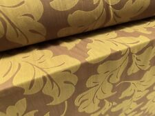 Power Mesh Net Stretch Fabric, Per Metre - Leaf Flower Print - Mustard