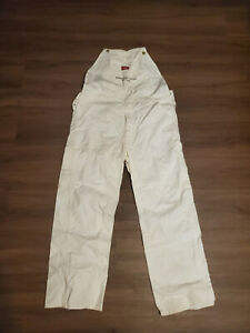 Dickies White Coveralls Sleeveless 100% Cotton W36 L30 CX015