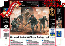 Master Box 35177 German Infantry on the Move Under Fire WWII Era Early kit 1/35
