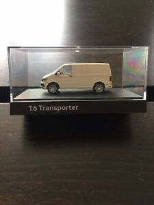 RARE VW T6 7E TRANSPORTER VAN HIGHLINE CANDY WHITE 1:87 HERPA (DEALER MODEL)