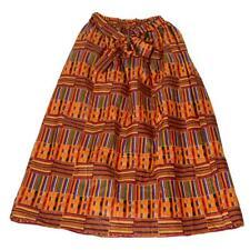 Novarena African Dutch Ankara Wax Print Full Circle Skirt for Girls and Women Af