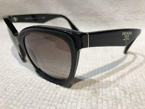PRADA Cat Eye Black SPR20P 56-19 1AB-0A7 140 2N Sunglasses Milano Italy